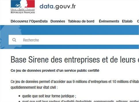 L'accès au répertoire des entreprises Sirene désormais gratuit