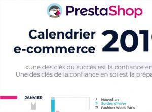 Calendrier E-commerce 2019 de Prestashop